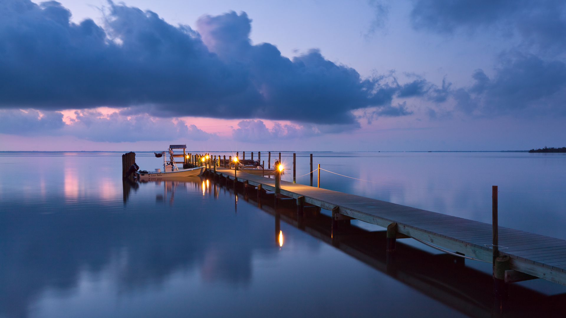 Captiva Cottages dock sunrise