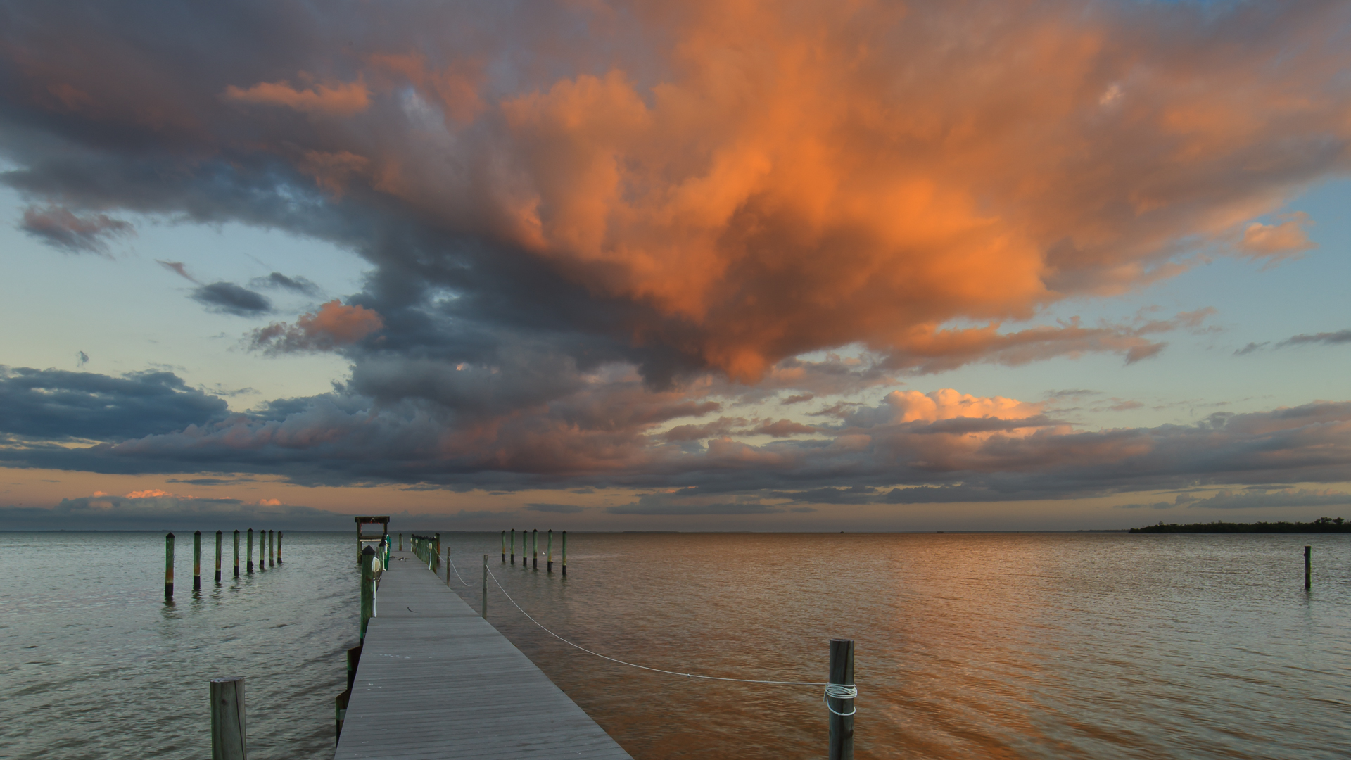Captiva Cottages sunset storm
